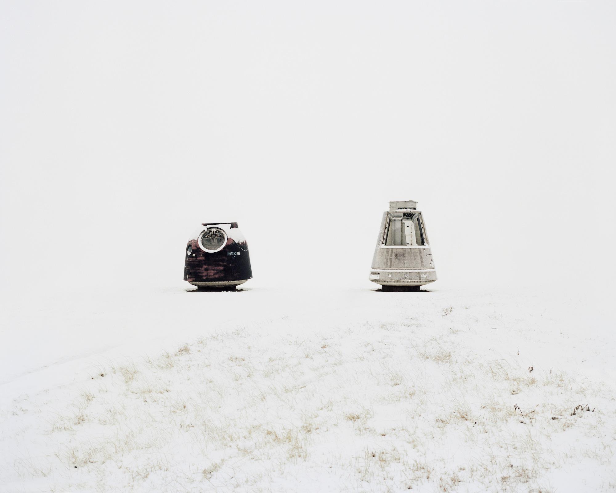 Landekapseln für Rückkehr der Astronauten und Forschungsausrüstung zur Erde –  Kasachstan, Gebiet Qysylorda, 2013