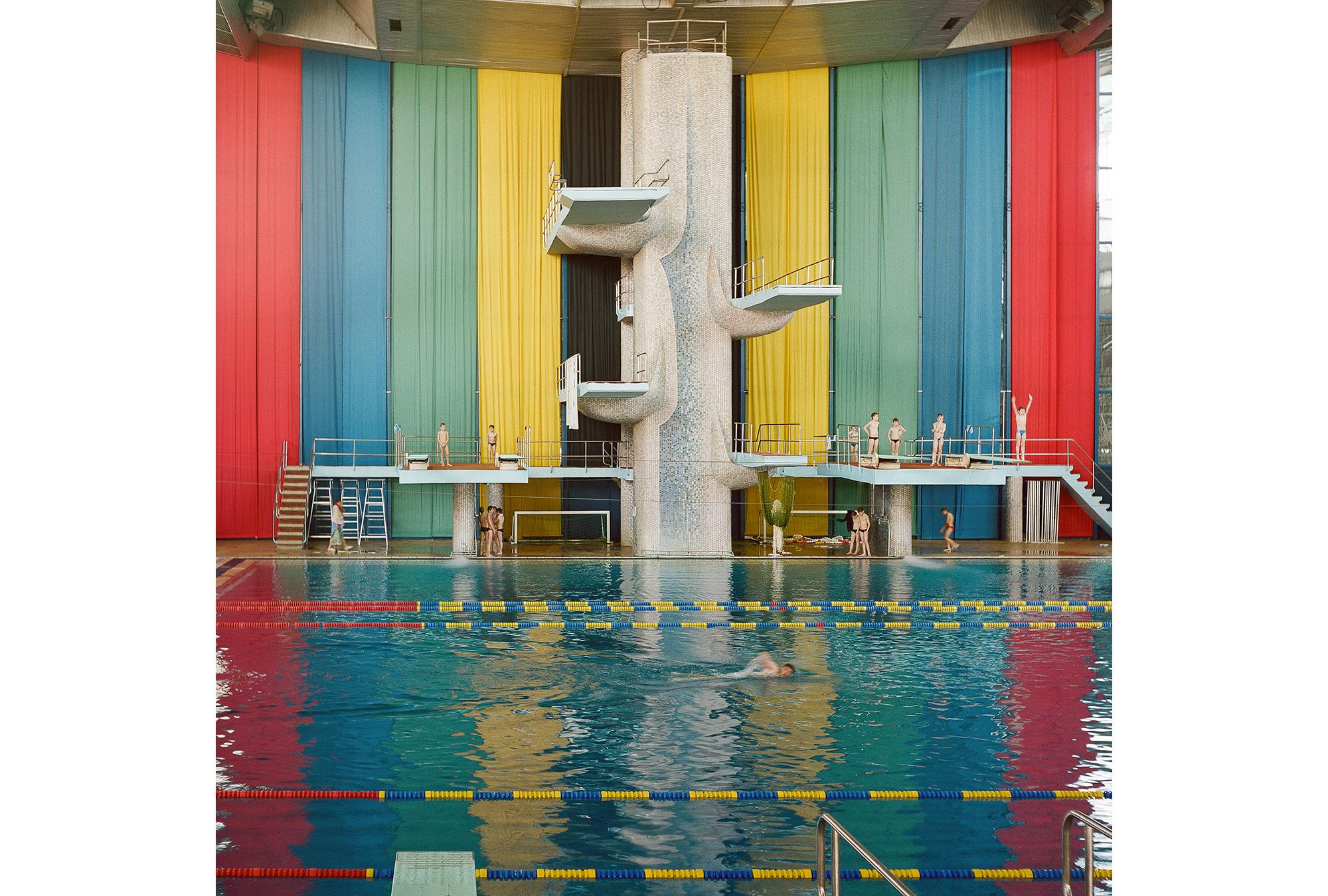 Schwimmhalle des Moskauer Olympiakomplexes