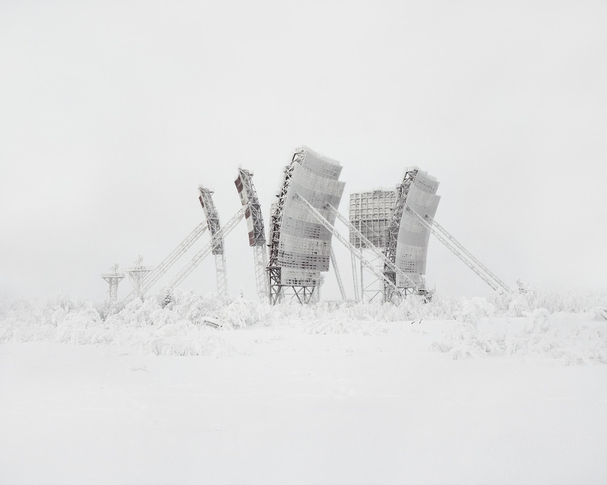 """""""Tschaika"""" – Antenne für Troposphärenfunk  – Russland, Autonomer Kreis der Jamal-Nenzen, 2014"""