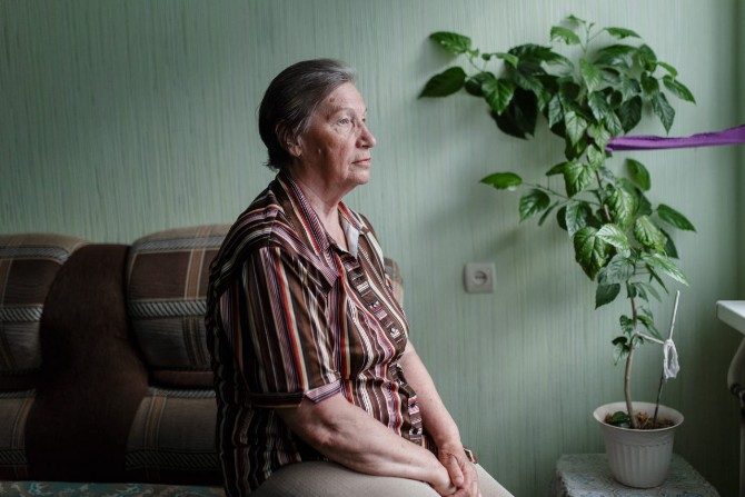 Ljudmila Pospelowa kam 1982 nach Kamskije Poljany / Foto © Jewgenija Shulanowa