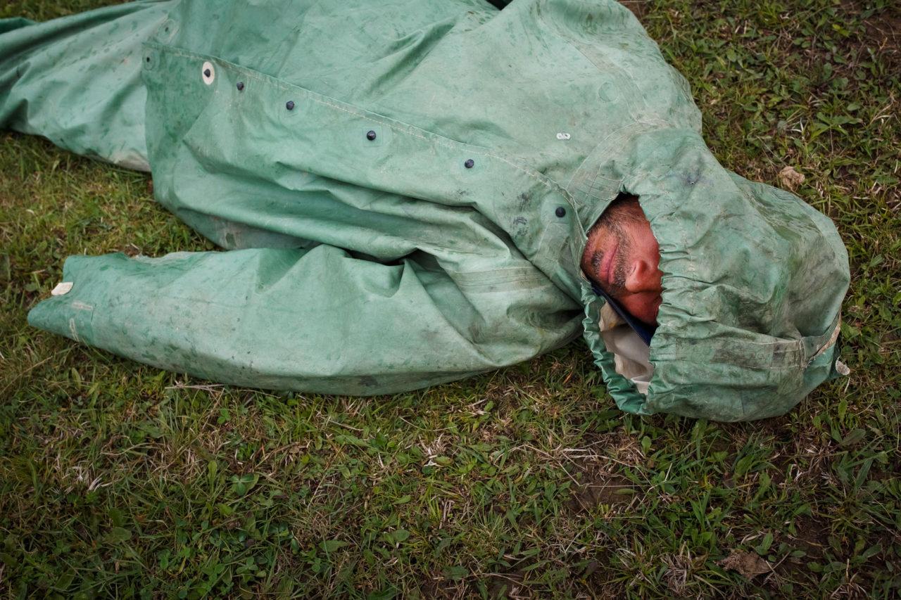 Schaftreiber Bek schläft / Foto © Jewgenija Shulanowa