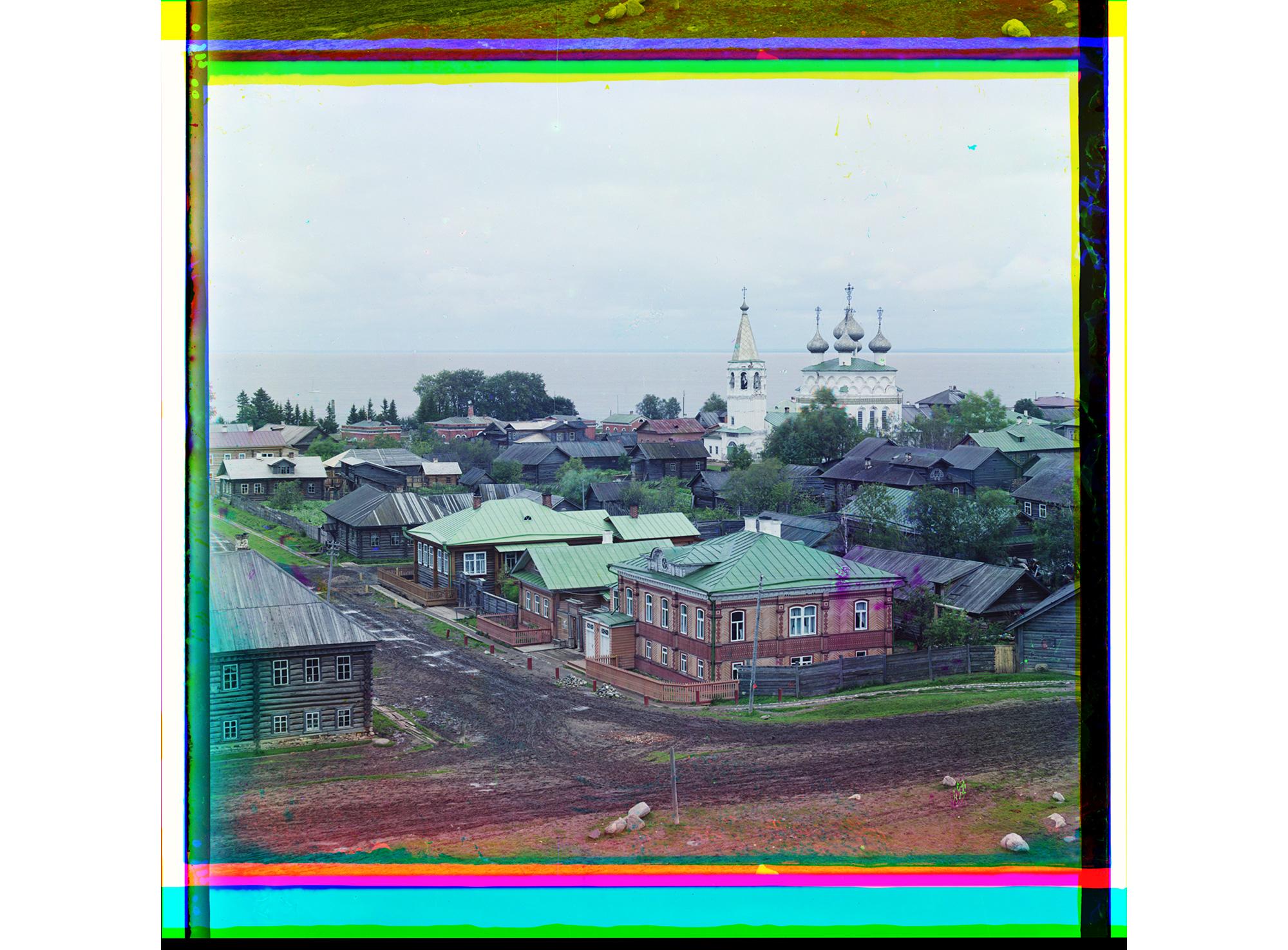 Blick über die Stadt von der Kreml-Mauer aus, Belosersk, 1909