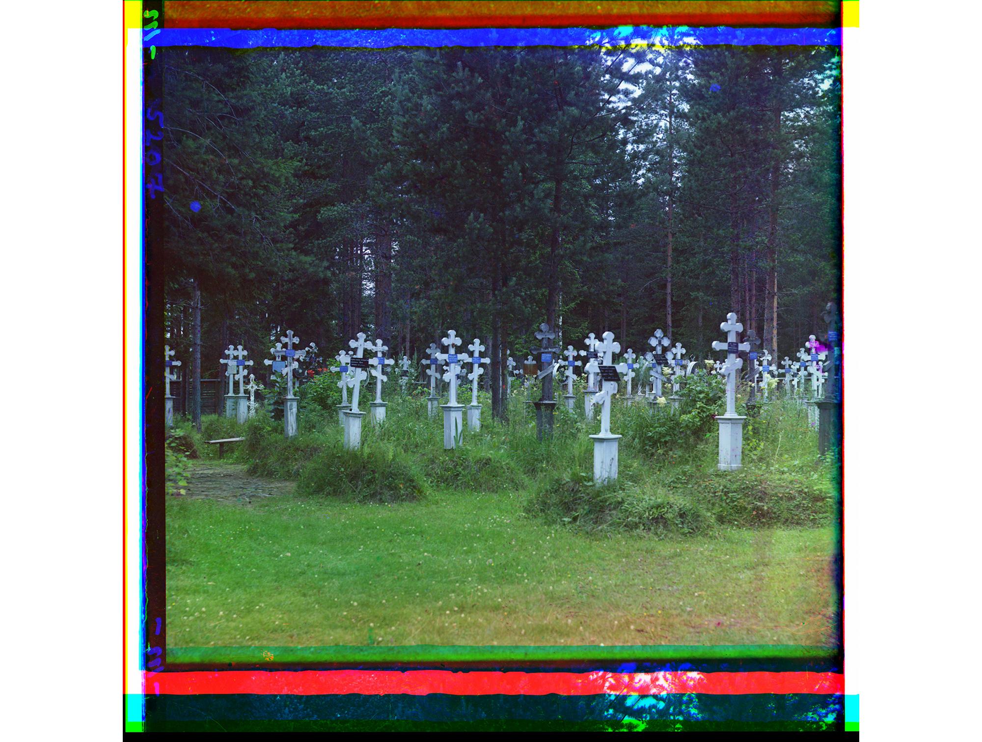 Friedhof des Uspenski-Klosters, 1909