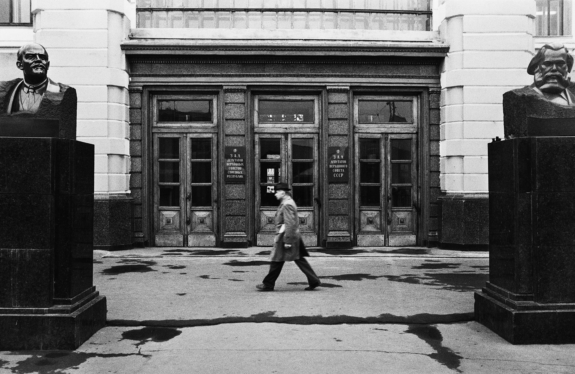 Wladimir Lenin und Karl Marx, Belarussischer Bahnhof, Moskau, 1988 / Foto © Igor Mukhin