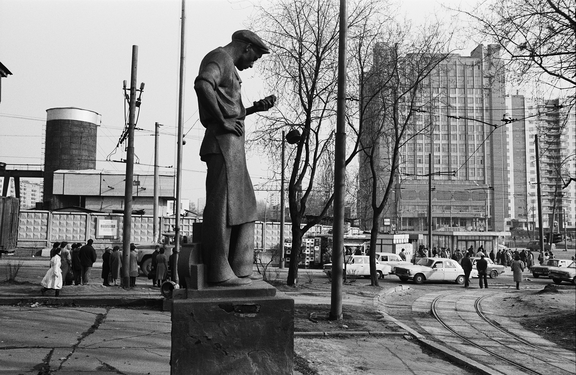 Platz Krestjanskaja Sastawa, Moskau, 1990 / Foto © Igor Mukhin