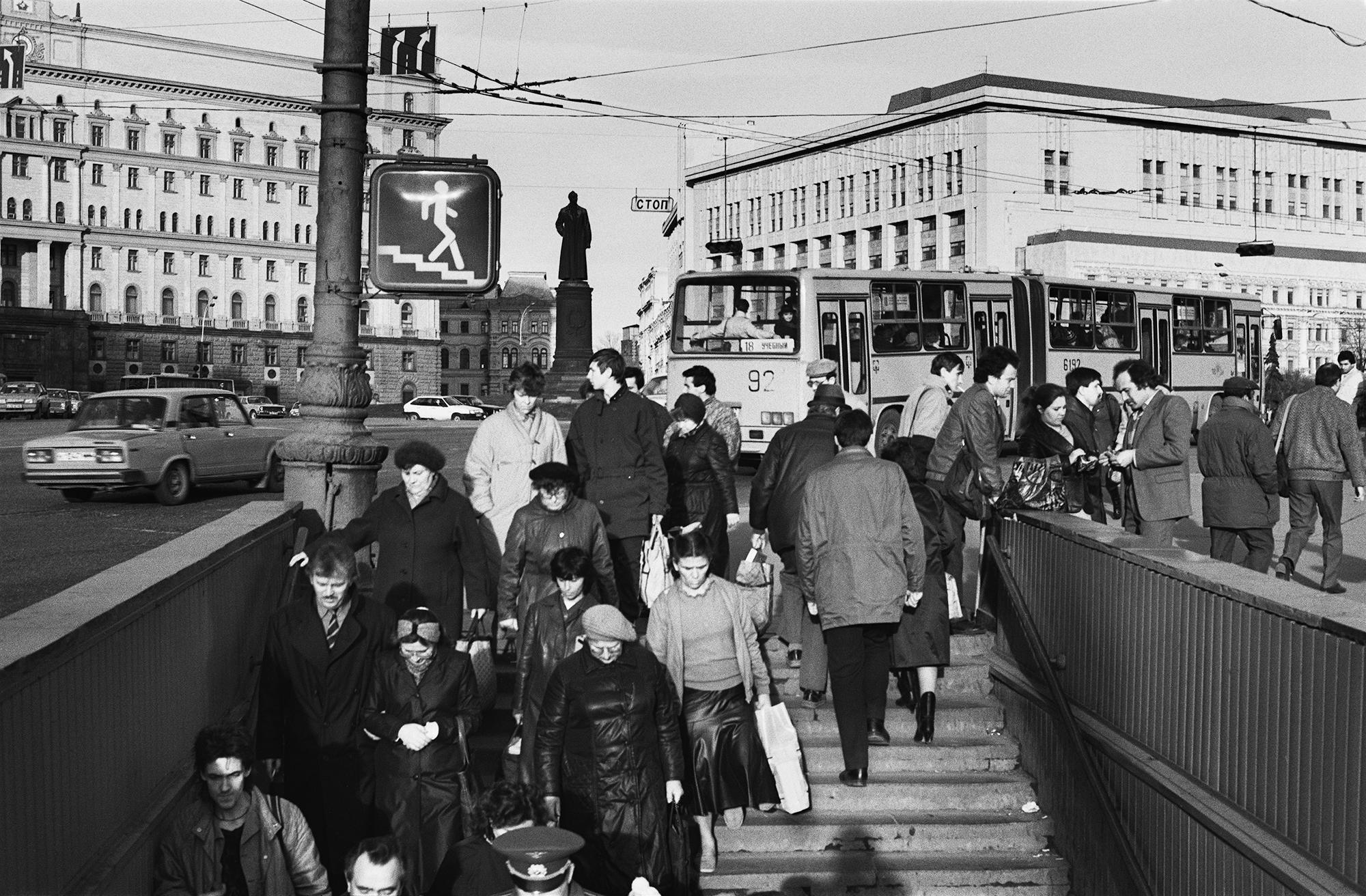 Denkmal zu Ehren Felix Dshershinskis, Moskau, 1990 / Foto © Igor Mukhin
