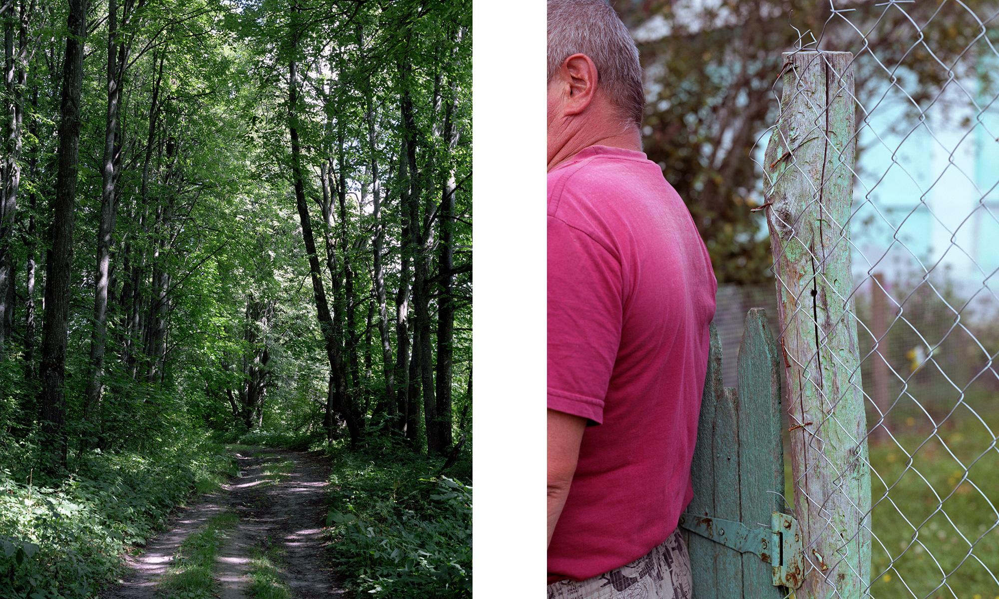 Links – beim Dorf Schelamowo. Lindenallee auf dem verschwundenen Gut Turgenjews. Rechts – Sergej Wasiljewitsch Tolstow, im Dorf Tschortowo