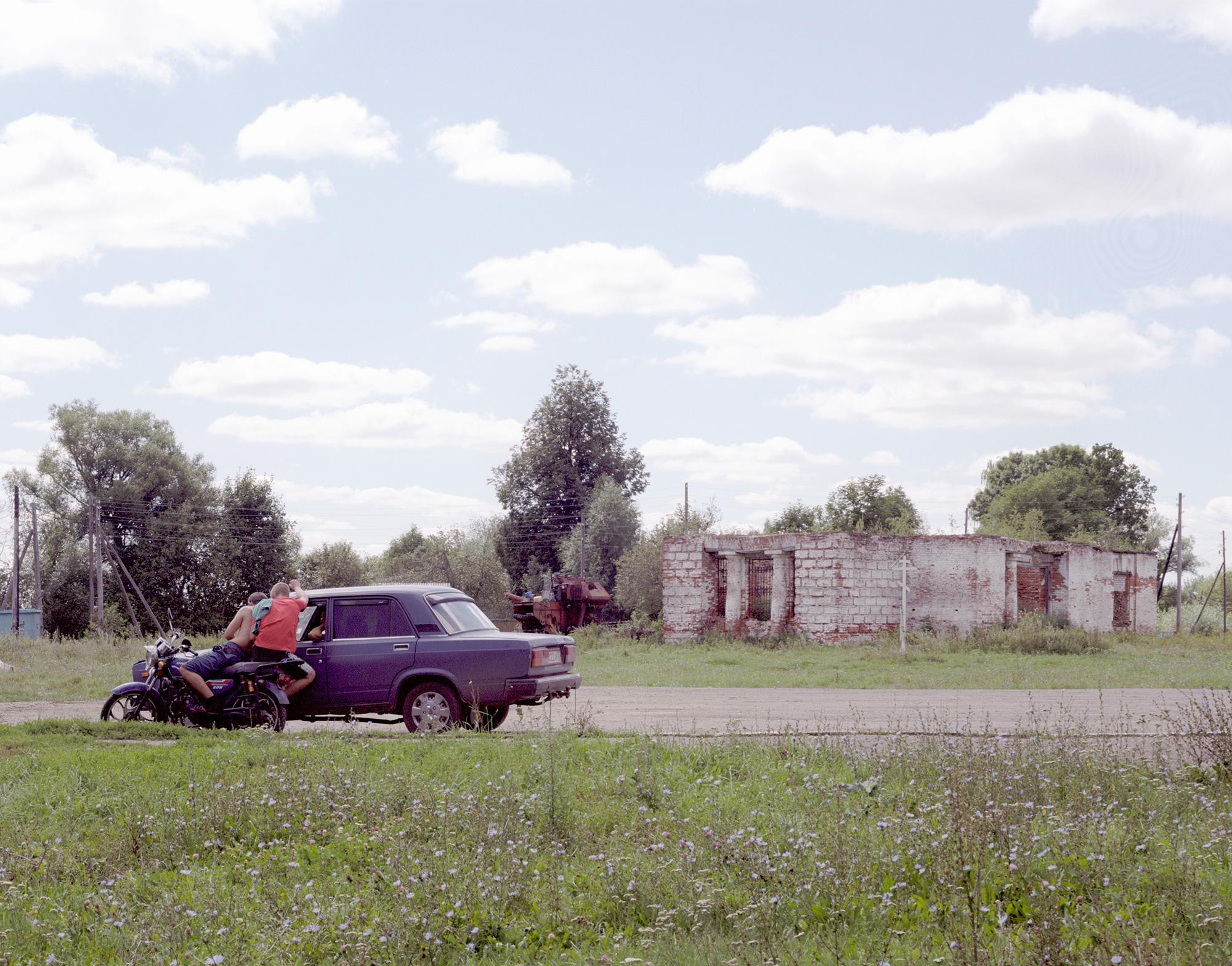 Speschnewo, Dorfplatz, Ruine der Kirche des Heiligen Johannes des Theologen
