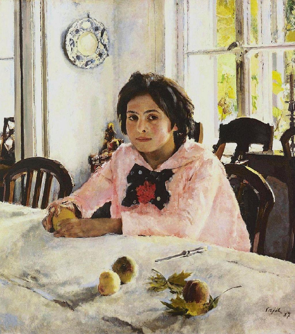 Walentin Serow, Mädchen mit Pfirsichen (1887, Staatliche Tretjakow Galerie, Moskau)