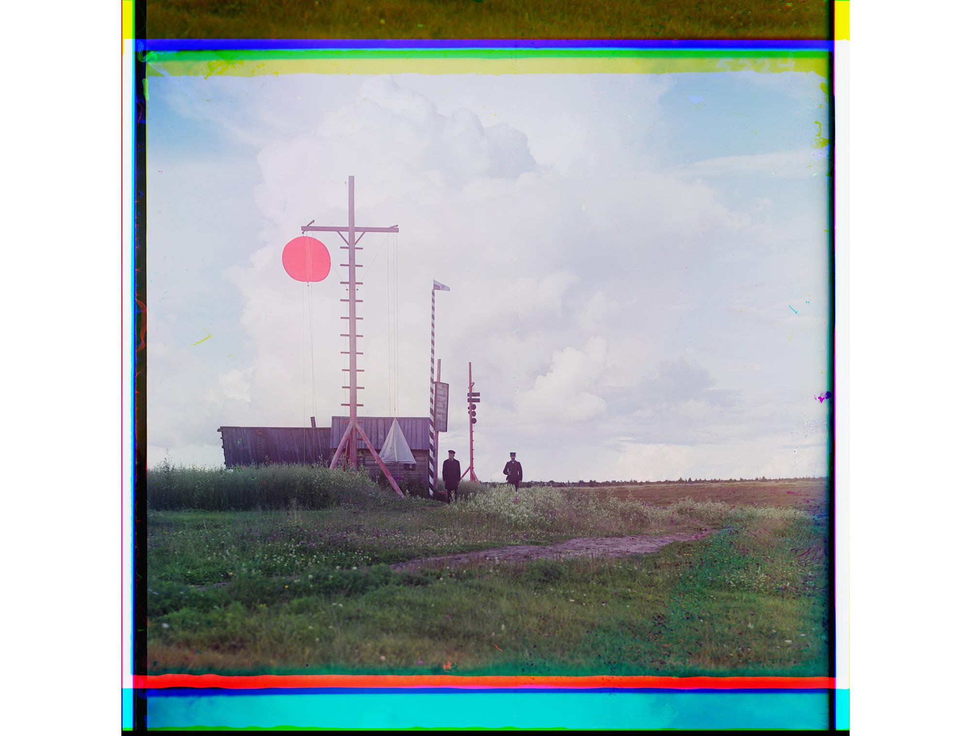 Signalmast beim Dorf Burkowo, 1909