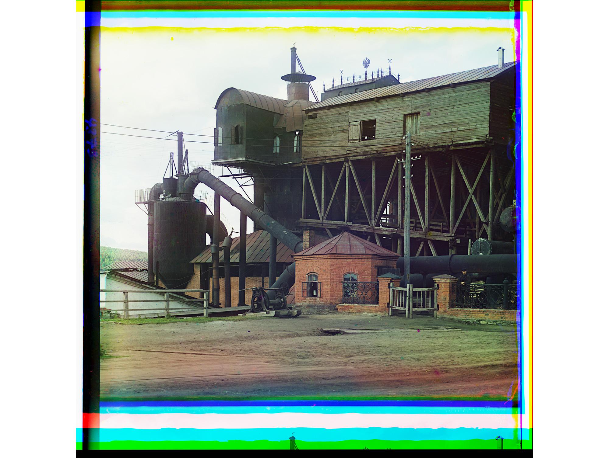 Schmelzöfen der Eisenhütte bei Satka, 1910