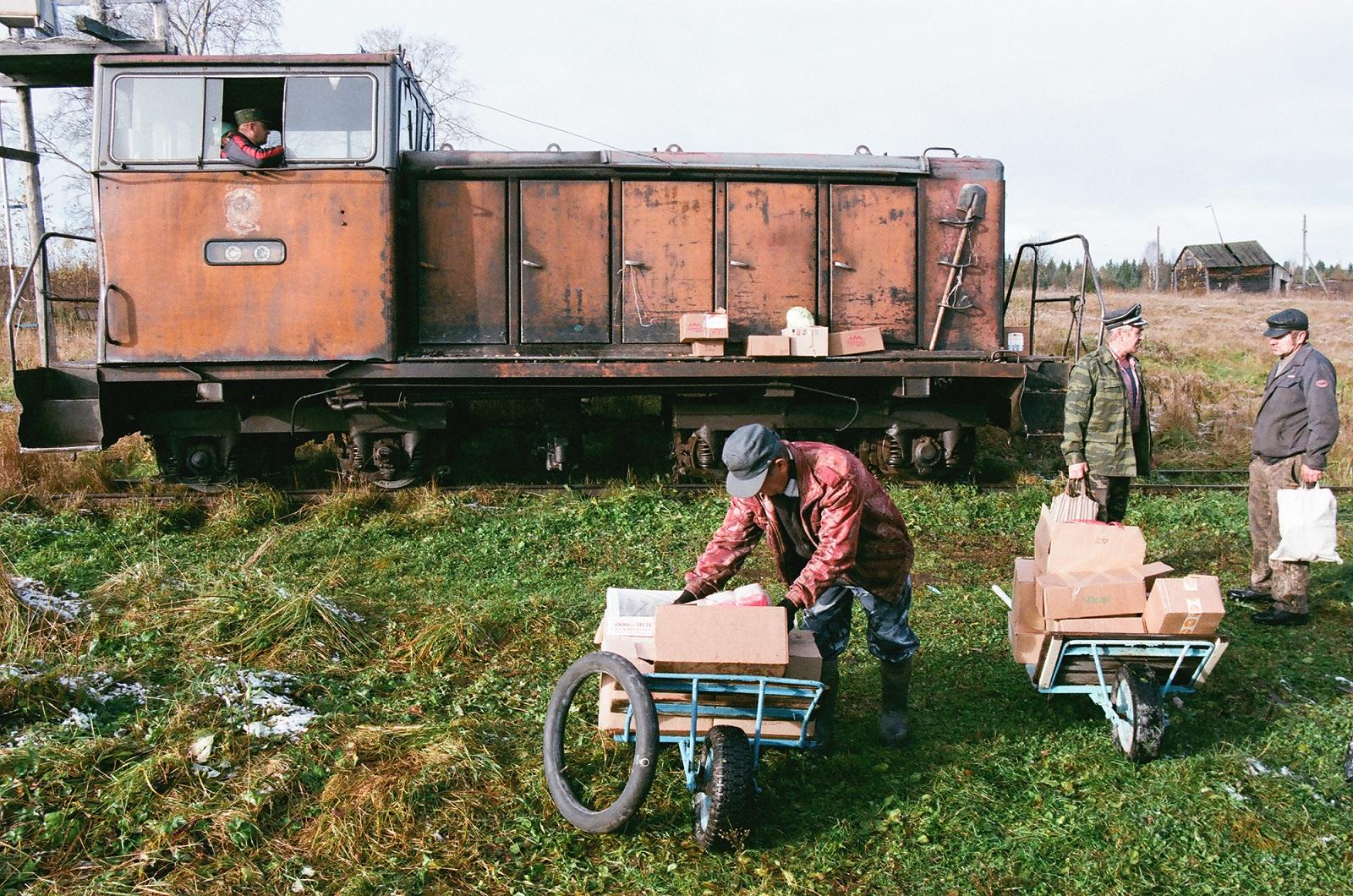 Lushma – die erste Station, an der Lebensmittel und Passagiere den Zug verlassen
