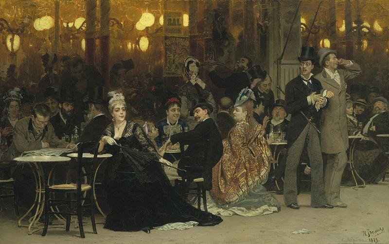 Ilja Repin, Pariser Café (1875, Christie's 2011)