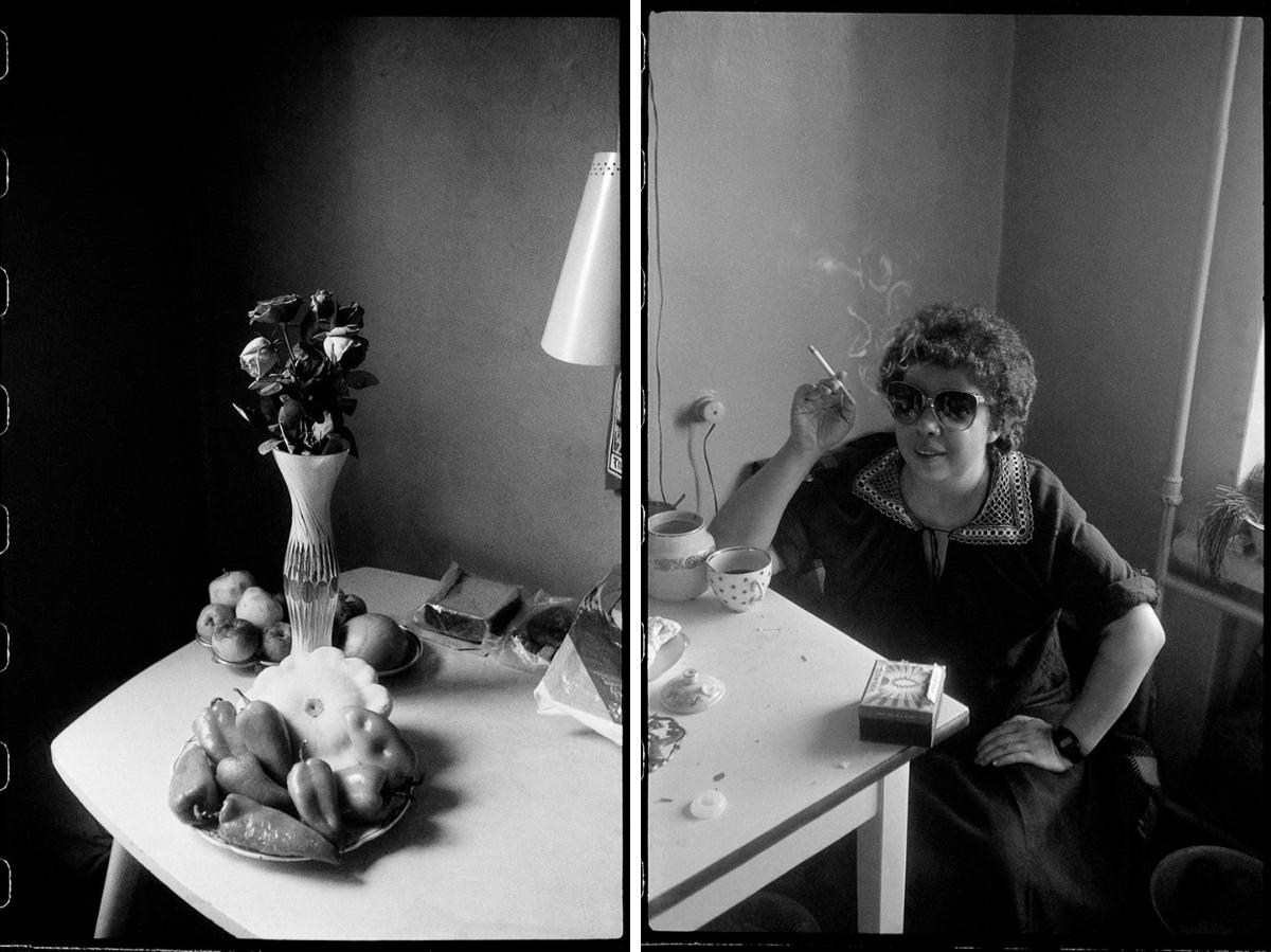 Moskau imAugust 1988 / rechts: Natascha, Leningrad, 1983 © Fotos: Mascha Iwaschinzowa
