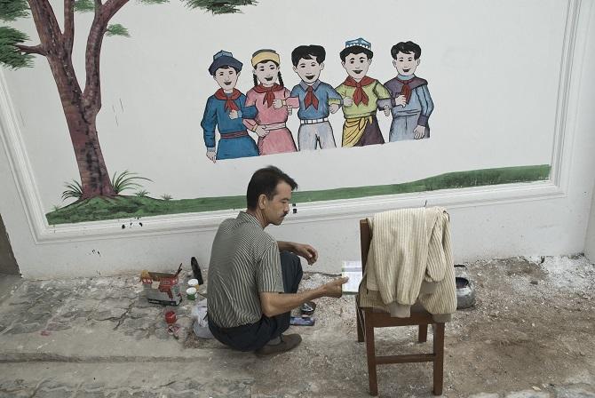 Kaxgar, Schule für uigurische Kinder, 2007 / Foto © Konstantin Salomatin