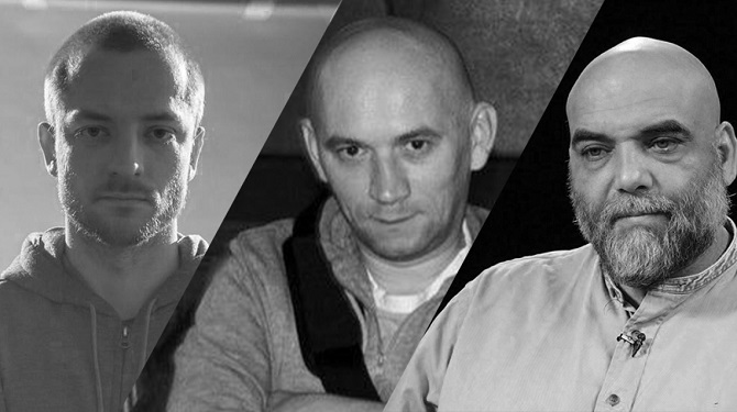 Kirill Radtschenko, Alexander Rastorgujew und Orchan Dshemal – die Journalisten und Filmemacher wurden in der Zentralafrikanischen Republik getötet / Fotos © anna-news-info über Facebook