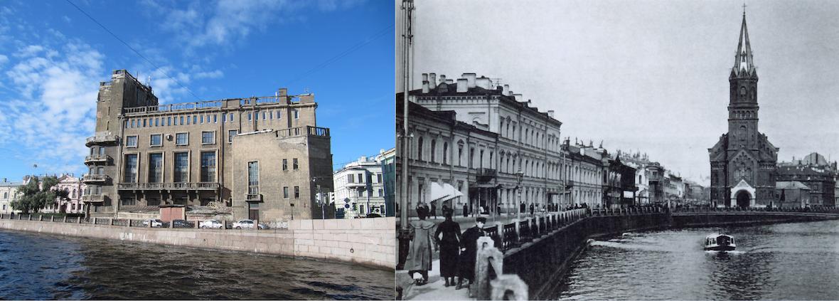 Die ehemalige reformierte Kirche (rechts) ist heute kaum wiederzuerkennen / Foto © CC BY-SA 3.0