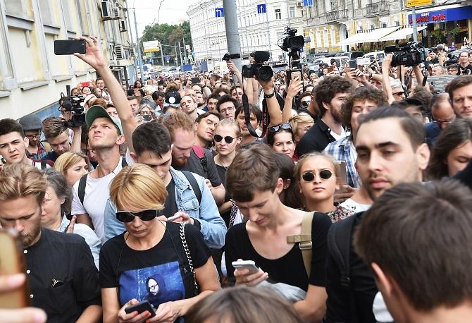 Die Unterstützung hilft Serebrennikow nicht – er bleibt unter Arrest / Foto © Irina Bursho/Kommersant