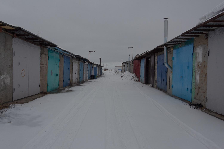 Typische Garagenanlage im Norden Russlands / Foto© Oksana Ozgur