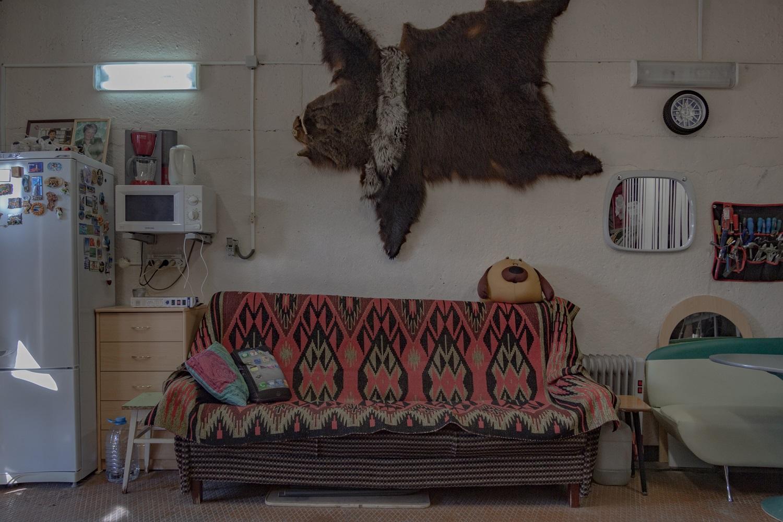 Aufenthaltsbereich in einer Standardgarage, 5 x 6 Meter / Foto© Oksana Ozgur