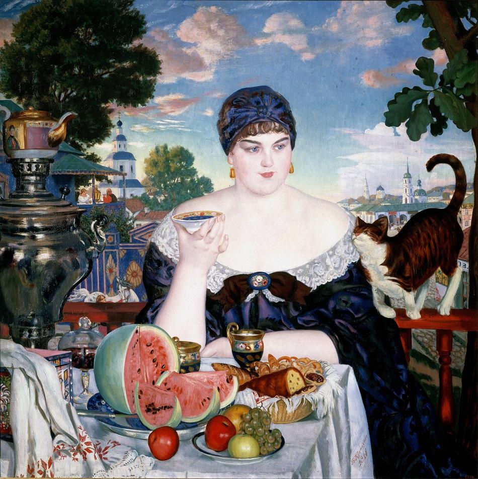 Boris Kustodijew, Die Gattin des Kaufmanns (1912)