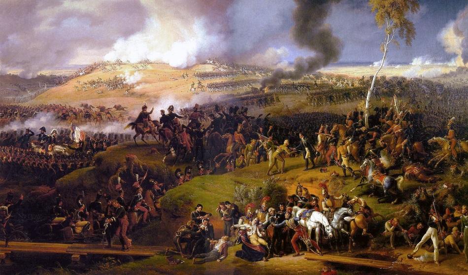 """Der Vaterländische Krieg erscheint als nationale Aufgabe, als Vereinigung aller im gemeinsamen Enthusiasmus / """"Die Schlacht bei Borodino"""", Louis Lejeune, 1822"""