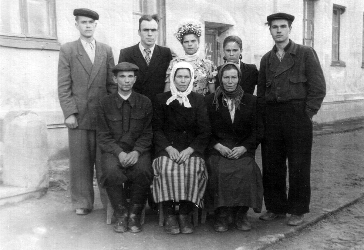 Ca. 1956 Minsk. Viktar Paŭloŭski and Maryja Lučyna. Aus dem Archiv von Aliaksandr Lučyna