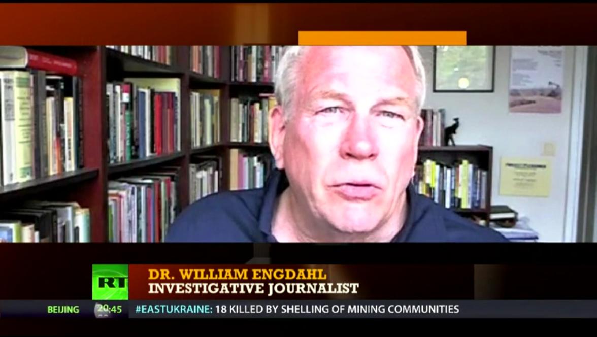 """Wurde Engdahl in dem Westi-Beitrag als """"Schriftsteller und Politologe"""" vorgestellt, so betreibt er hier """"investigativen Journalismus"""""""
