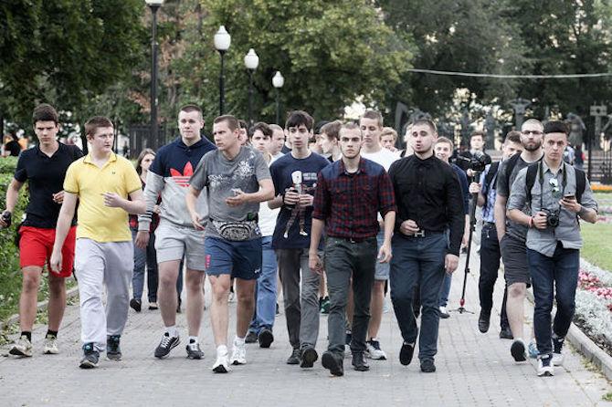Foto © Andrej Machonin. Streifzug von Lew protiw auf dem Bolotnaja-Platz