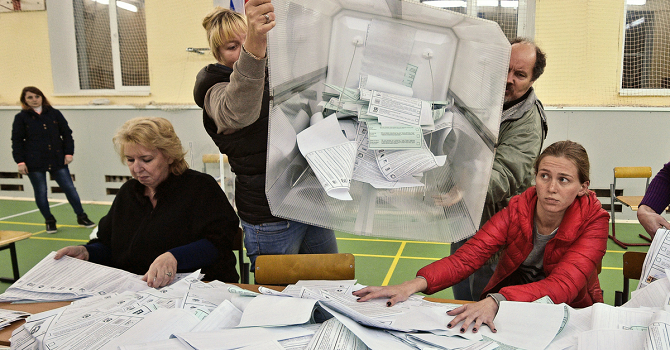 Falls an den Wahlergebnissen etwas überraschend ist, dann ihre filigrane Präzision – findet Grigori Golossow / Foto © Alexander Miridonow/Kommersant