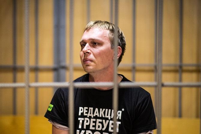 Iwan Golunow vor dem Nikulinski Bezirksgericht / Foto © Jewgeni Feldman/Meduza unter CC BY-SA 4.0