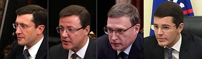 Russlands Technokraten, die sich so ähnlich sehen, dass sie sicher – so wird gescherzt – aus einem geheimen Kreml-Labor stammen / Quelle unbekannt