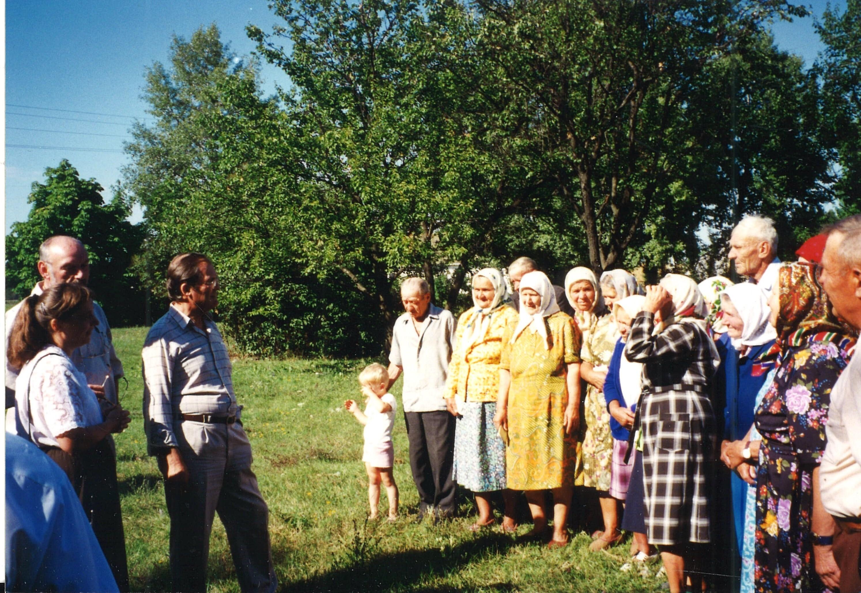 Вильгельм Вайбель в Украине на встрече с бывшими остарбайтерами. © Wilhelm Josef Waibel