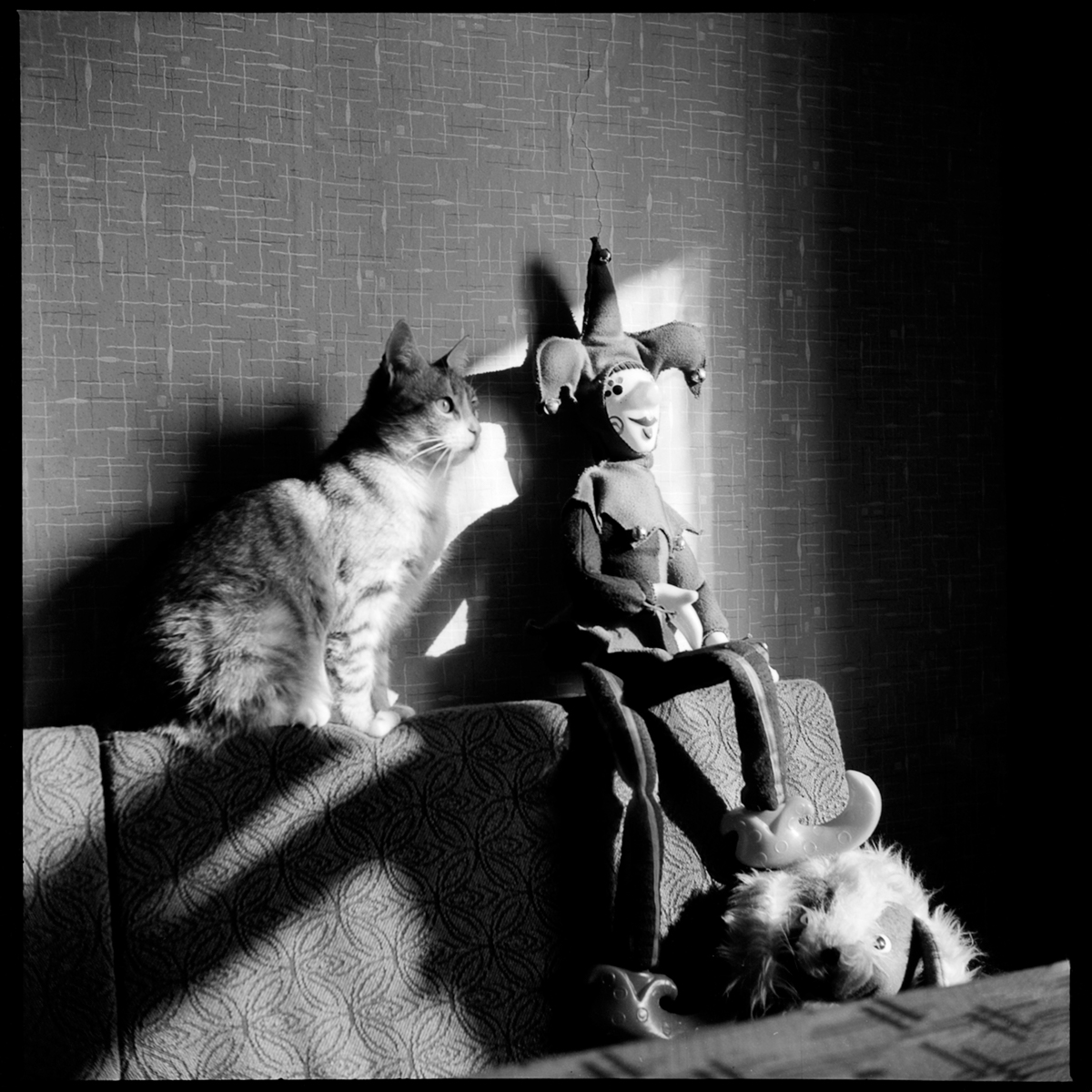 Pussja und Harlekin, Leningrad, 1977 © Mascha Iwaschinzowa