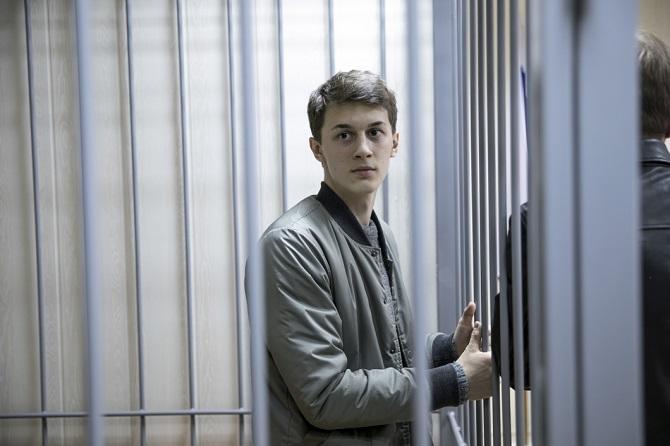 Für Jegor Shukow bürgte vergeblich die Vizedirektorin der renommierten Higher School of Economics / Foto © Wlad Dokschin/Novaya Gazeta