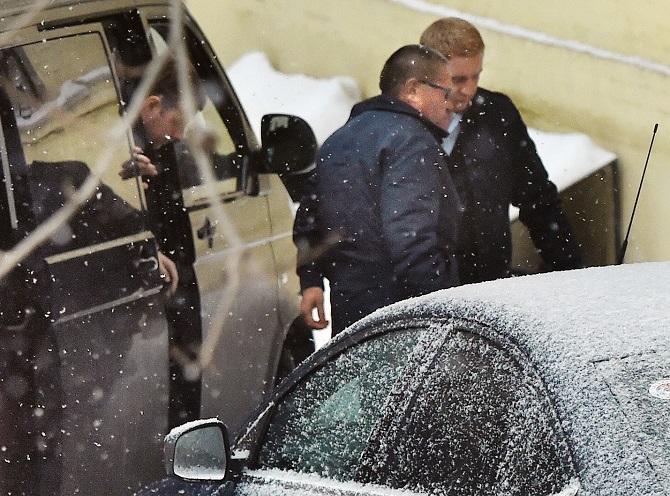 Alexej Uljukajew im November 2016 auf dem Weg zu seiner Anhörung / Foto © Kristina Kormilizyna/Kommersant