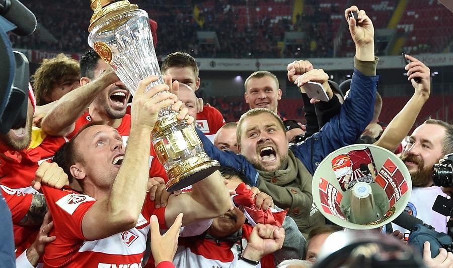 Nach 16 Jahren feiert Spartak im Mai 2017 wieder den Gewinn der Meisterschaft / Foto © Dimitri Korotajew/Kommersant