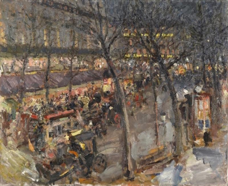 Konstantin Korowin, Paris. Café de la Paix (1906, Staatliche Tretjakow Galerie, Moskau)