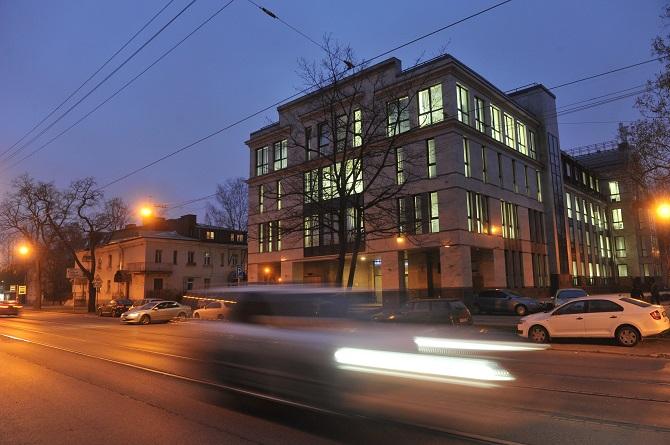 Uliza Sawuschkina 55 –  seit vier Jahren Sitz einer Trollfabrik? / Foto © Alexander Korjakow/Kommersant