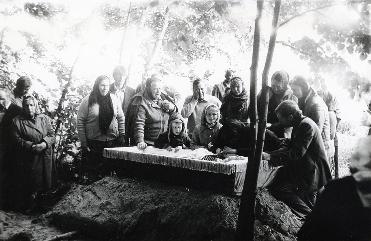 1985, Ljubіschtscha, Magіljoўskі Rajon, Magіljoўskaja Oblast. Aus dem Archiv von Andrej Karačun