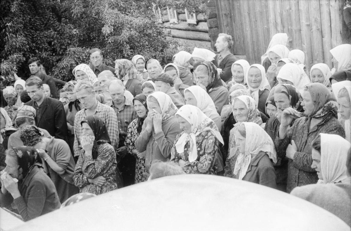 1960–1970, Vialikaje Zarečča, Rajon Schklou, Magіljoўskaja Oblast. Fotografie von Ivan Daŭhin. Aus dem Archiv von Siarhiej Lieskieć