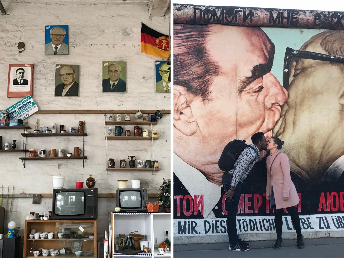 Галерея Ист-Сайд, Берлин, район Фридрисхайн (слева) / Фабричное здание, Берлин, район Вайсензее (справа) © Андреас Метц