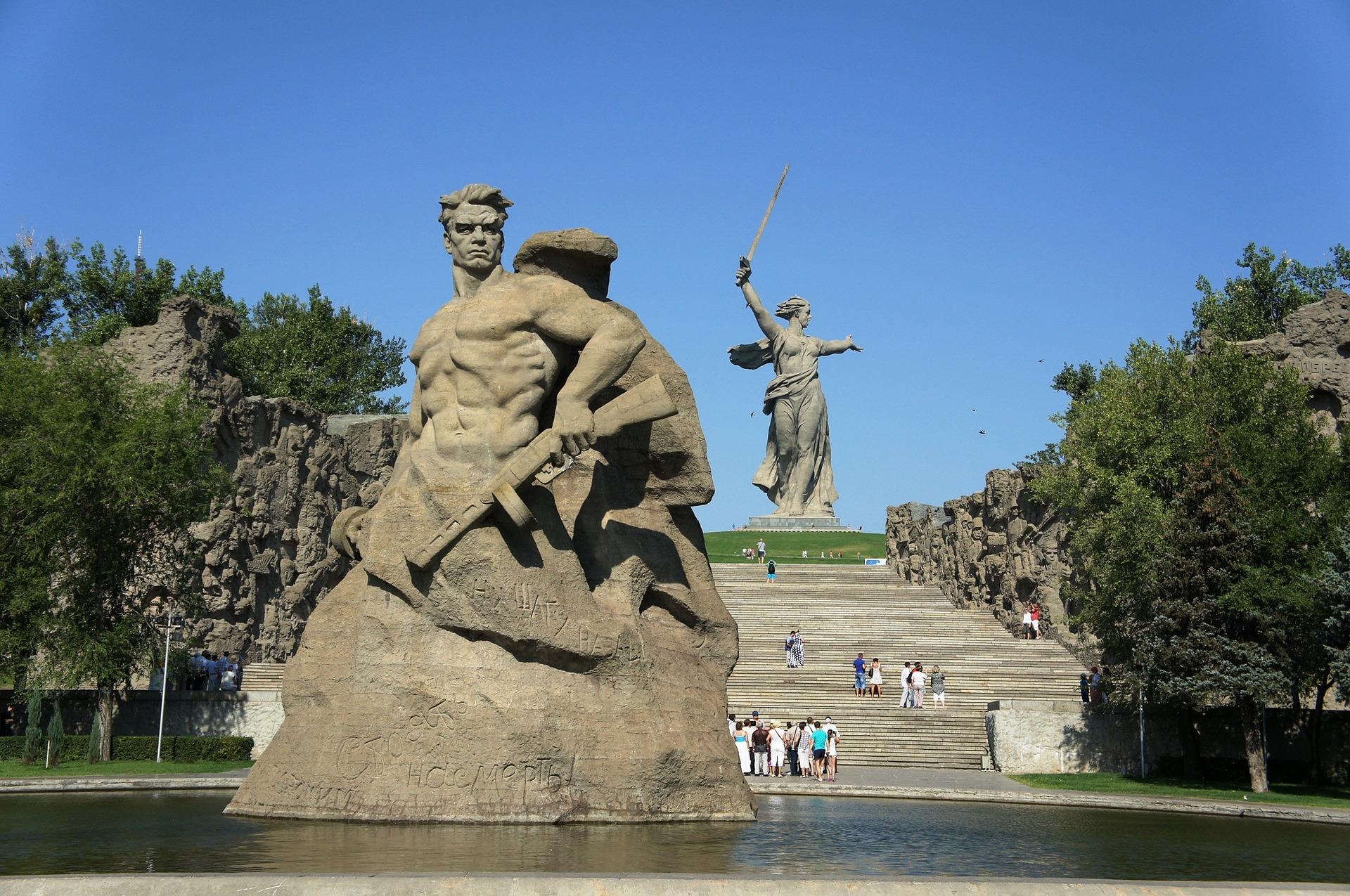 Das heroische Bild vom Krieg spiegelte sich in den gigantischen Denkmal-Anlagen wider / Foto © CC0/Public Domain