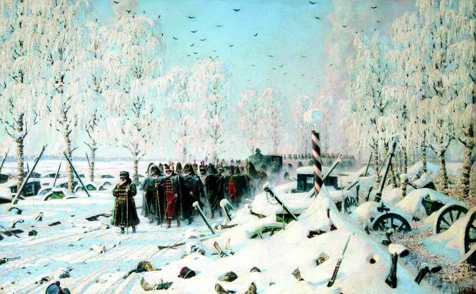 Maler, Musiker, Dramaturgen wurden nicht müde, den Krieg stets aufs Neue nachzugestalten (Wassili Wereschtschagin, 1887-1895)