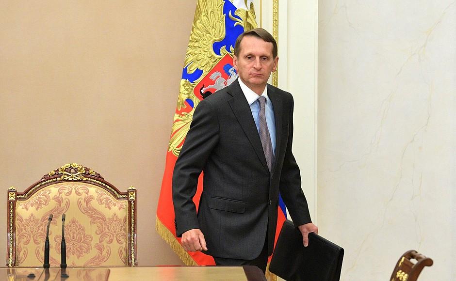 Seit Oktober 2016 Leiter des Auslandsgeheimdienstes – Sergej Naryschkin / Foto © kremlin.ru