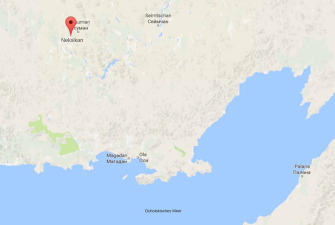 Nexikan liegt etwa 650 Kilometer nördlich von Magadan