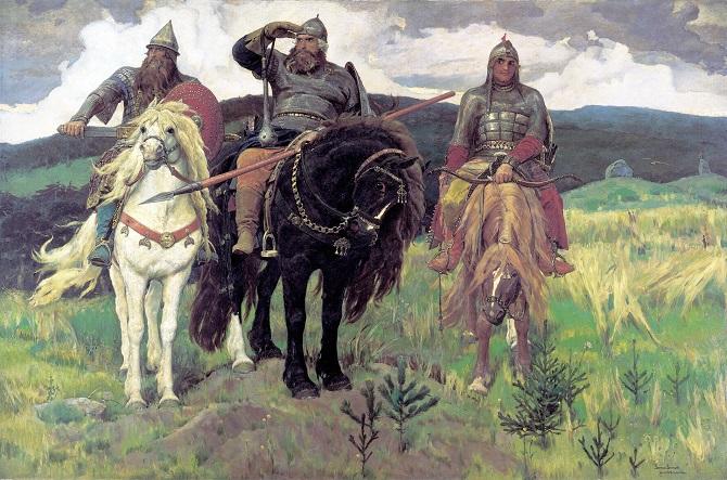 """""""Die drei Recken"""" von Viktor Michailowitsch Wasnezow"""