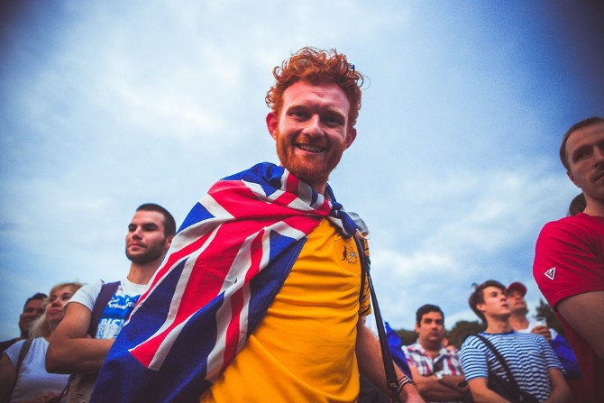 Auf den ersten Blick wenig gefährlich – ein britischer Fan bei der WM in Moskau / Foto © Pixabay