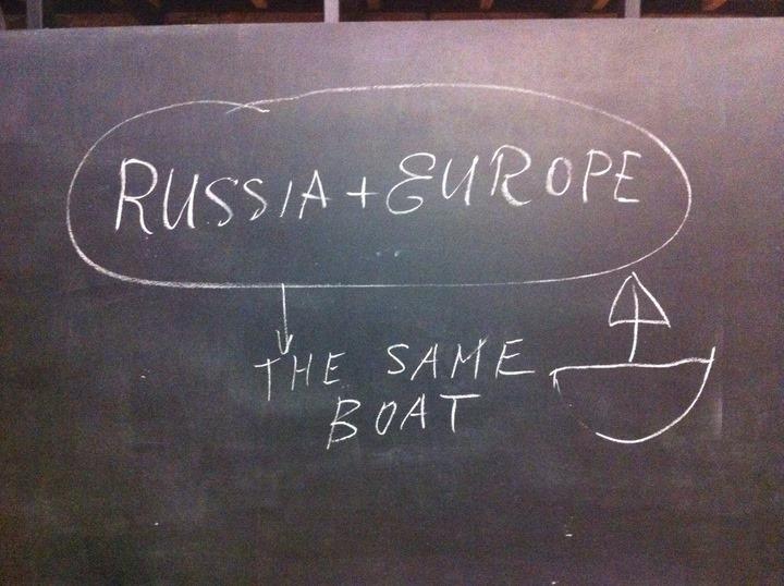 """""""Russland und Europa sitzen im selben Boot."""" (Irina Prochorowa)"""