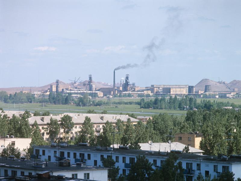 Eine Produktionsstätte des Kalikombinats, heute OAO Belaruskali, am Rande von Soligorsk, 1974 / Foto © U. Iwanow/sputnikimages